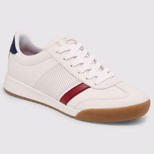 New Skechers Sport White Sneakers Red Stripe 10, 6
